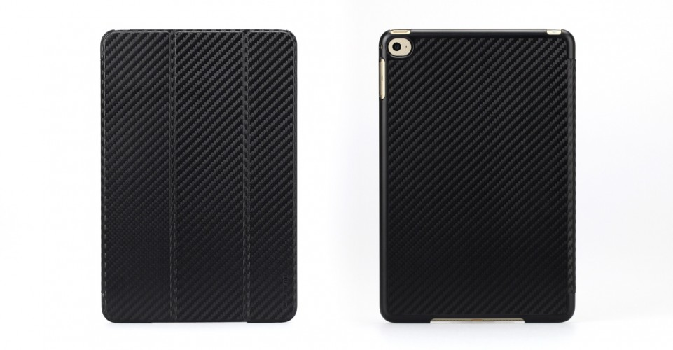 CarbonLook SHELL with Front cover for iPad mini 4