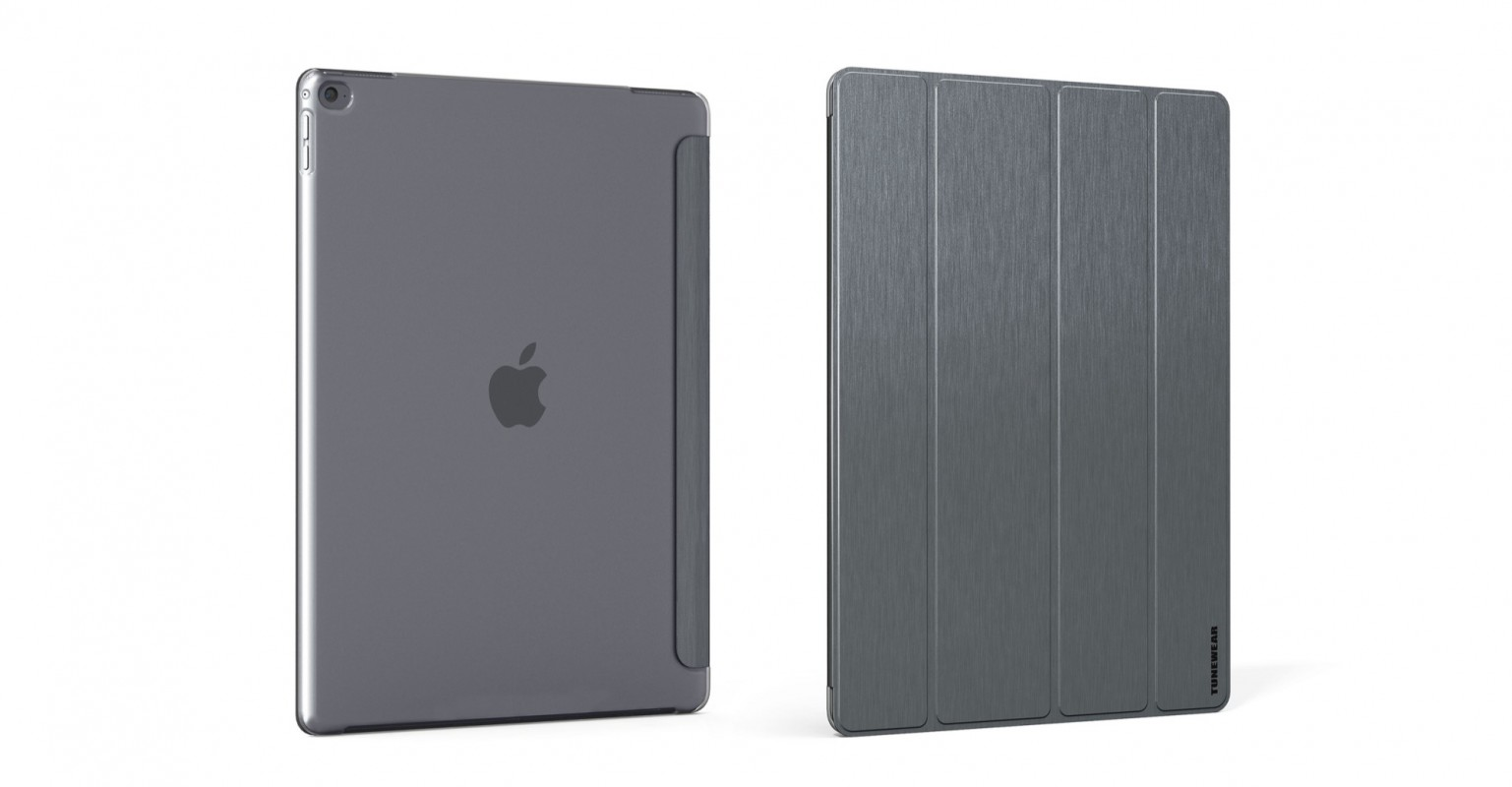 Brushed Metal Look SHELL with Front cover for iPad Pro (12.9inch)